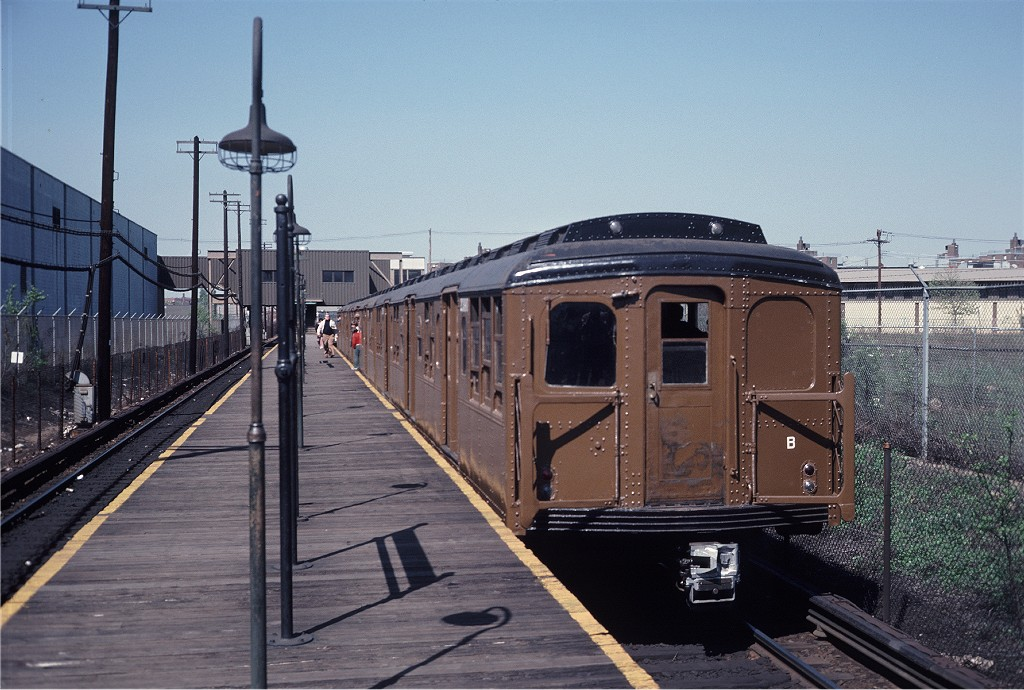 (207k, 1024x690)<br><b>Country:</b> United States<br><b>City:</b> New York<br><b>System:</b> New York City Transit<br><b>Line:</b> BMT Canarsie Line<br><b>Location:</b> East 105th Street <br><b>Route:</b> Fan Trip<br><b>Car:</b> BMT A/B-Type Standard 2390 <br><b>Photo by:</b> Steve Zabel<br><b>Collection of:</b> Joe Testagrose<br><b>Date:</b> 4/30/1977<br><b>Viewed (this week/total):</b> 4 / 871