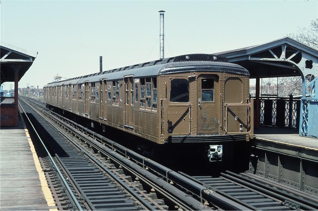 (215k, 1024x681)<br><b>Country:</b> United States<br><b>City:</b> New York<br><b>System:</b> New York City Transit<br><b>Line:</b> BMT Canarsie Line<br><b>Location:</b> Livonia Avenue <br><b>Route:</b> Fan Trip<br><b>Car:</b> BMT A/B-Type Standard 2390 <br><b>Photo by:</b> Doug Grotjahn<br><b>Collection of:</b> Joe Testagrose<br><b>Date:</b> 4/30/1977<br><b>Viewed (this week/total):</b> 0 / 794