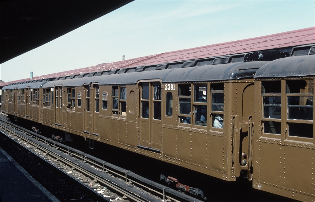 (181k, 1024x655)<br><b>Country:</b> United States<br><b>City:</b> New York<br><b>System:</b> New York City Transit<br><b>Line:</b> BMT Brighton Line<br><b>Location:</b> Kings Highway <br><b>Route:</b> Fan Trip<br><b>Car:</b> BMT A/B-Type Standard 2391 <br><b>Photo by:</b> Joe Testagrose<br><b>Date:</b> 4/16/1977<br><b>Viewed (this week/total):</b> 0 / 712