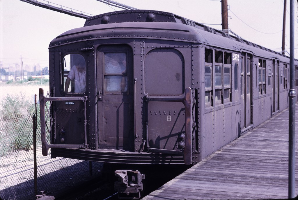 (196k, 1024x689)<br><b>Country:</b> United States<br><b>City:</b> New York<br><b>System:</b> New York City Transit<br><b>Line:</b> BMT Canarsie Line<br><b>Location:</b> East 105th Street <br><b>Route:</b> Fan Trip<br><b>Car:</b> BMT A/B-Type Standard 2392 <br><b>Photo by:</b> Joe Testagrose<br><b>Date:</b> 8/23/1969<br><b>Viewed (this week/total):</b> 2 / 999