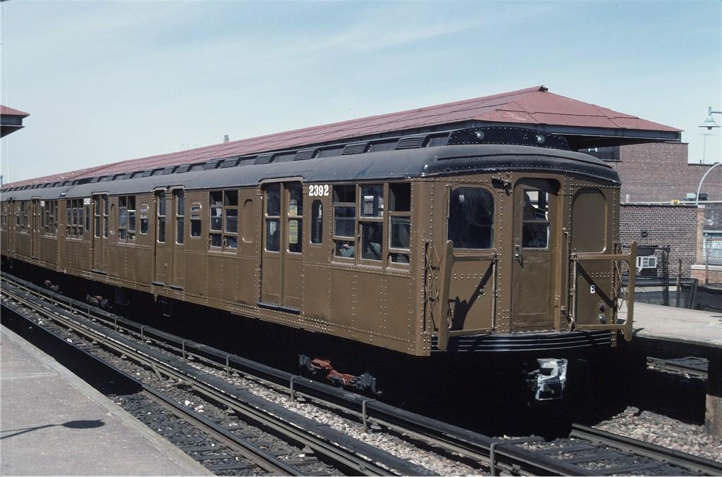 (192k, 1024x677)<br><b>Country:</b> United States<br><b>City:</b> New York<br><b>System:</b> New York City Transit<br><b>Line:</b> BMT Brighton Line<br><b>Location:</b> Kings Highway <br><b>Route:</b> Fan Trip<br><b>Car:</b> BMT A/B-Type Standard 2392 <br><b>Photo by:</b> Joe Testagrose<br><b>Date:</b> 4/16/1977<br><b>Viewed (this week/total):</b> 3 / 893