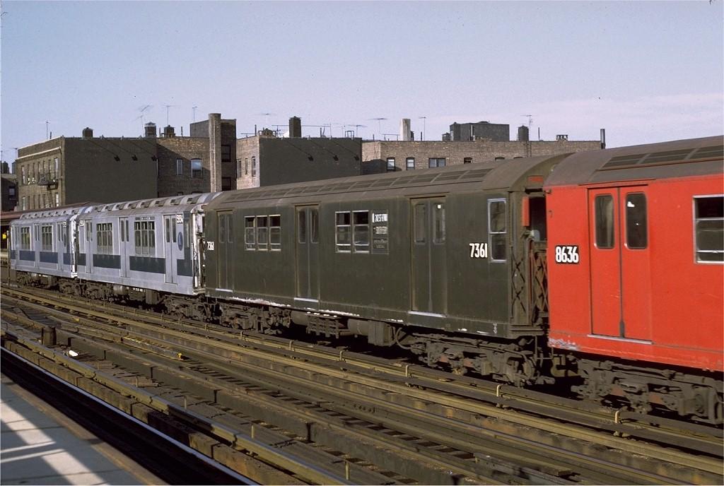(188k, 1024x688)<br><b>Country:</b> United States<br><b>City:</b> New York<br><b>System:</b> New York City Transit<br><b>Line:</b> IRT West Side Line<br><b>Location:</b> 238th Street <br><b>Route:</b> 1<br><b>Car:</b> R-22 (St. Louis, 1957-58) 7361 <br><b>Photo by:</b> Joe Testagrose<br><b>Date:</b> 8/14/1971<br><b>Viewed (this week/total):</b> 0 / 797