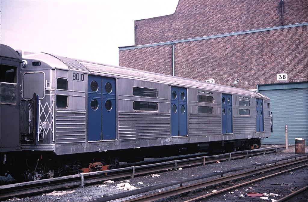 (243k, 1024x673)<br><b>Country:</b> United States<br><b>City:</b> New York<br><b>System:</b> New York City Transit<br><b>Location:</b> Coney Island Yard<br><b>Car:</b> R-11 (Budd, 1949) 8010 <br><b>Photo by:</b> Doug Grotjahn<br><b>Collection of:</b> Joe Testagrose<br><b>Viewed (this week/total):</b> 4 / 857