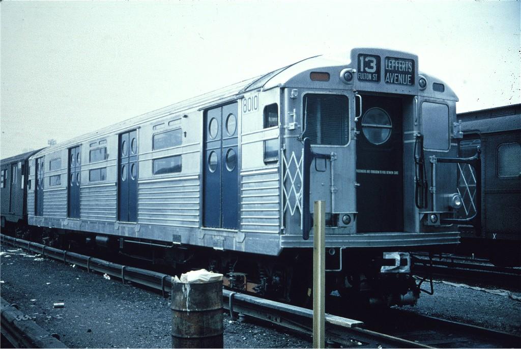 (211k, 1024x686)<br><b>Country:</b> United States<br><b>City:</b> New York<br><b>System:</b> New York City Transit<br><b>Location:</b> Coney Island Yard<br><b>Car:</b> R-11 (Budd, 1949) 8010 <br><b>Collection of:</b> Joe Testagrose<br><b>Viewed (this week/total):</b> 1 / 1097