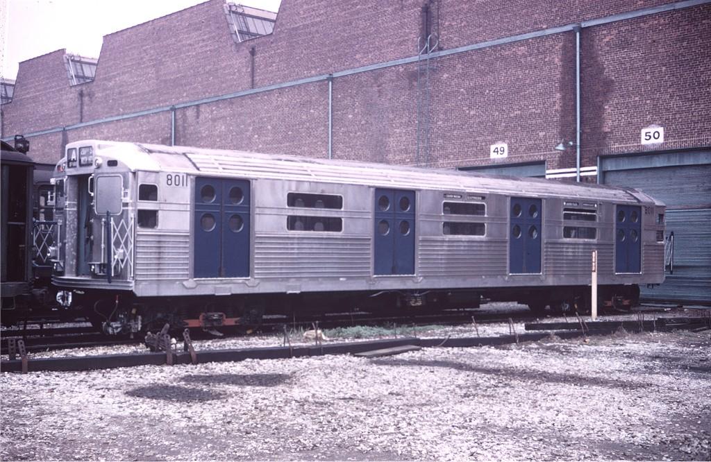 (245k, 1024x666)<br><b>Country:</b> United States<br><b>City:</b> New York<br><b>System:</b> New York City Transit<br><b>Location:</b> Coney Island Yard<br><b>Car:</b> R-11 (Budd, 1949) 8011 <br><b>Collection of:</b> Joe Testagrose<br><b>Date:</b> 5/2/1965<br><b>Viewed (this week/total):</b> 1 / 949