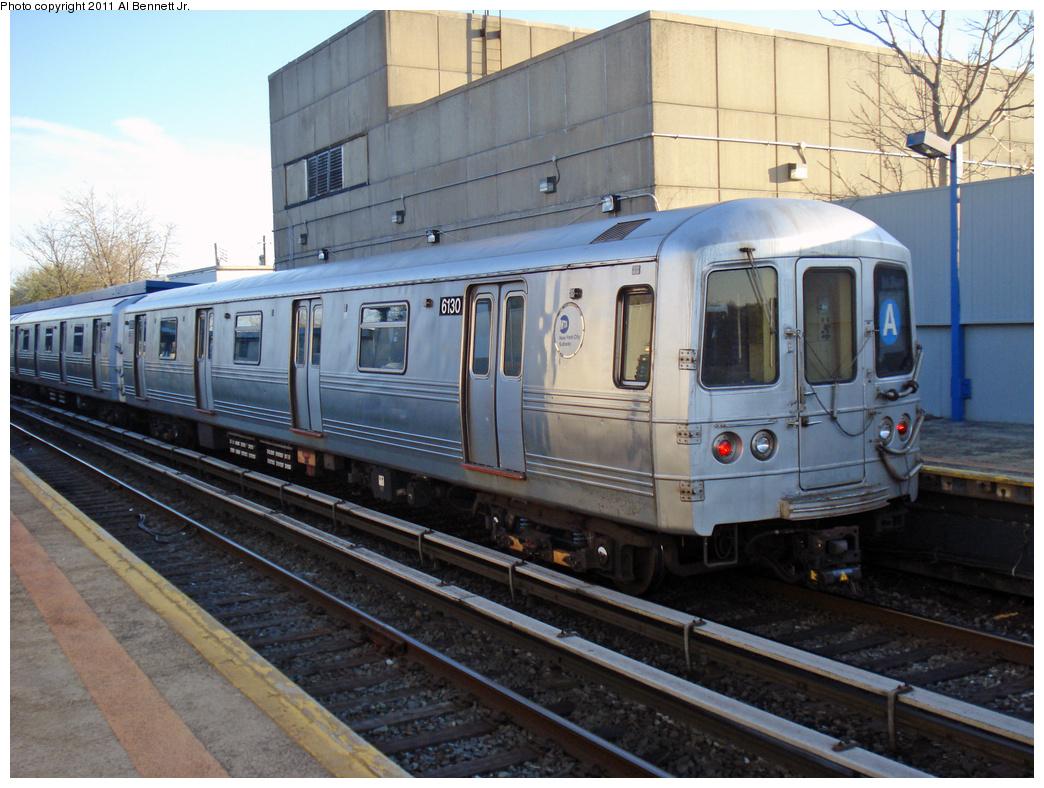 (433k, 1044x788)<br><b>Country:</b> United States<br><b>City:</b> New York<br><b>System:</b> New York City Transit<br><b>Line:</b> IND Rockaway<br><b>Location:</b> Broad Channel <br><b>Route:</b> A<br><b>Car:</b> R-46 (Pullman-Standard, 1974-75) 6130 <br><b>Photo by:</b> Al Bennett, Jr.<br><b>Date:</b> 4/21/2011<br><b>Viewed (this week/total):</b> 1 / 1170