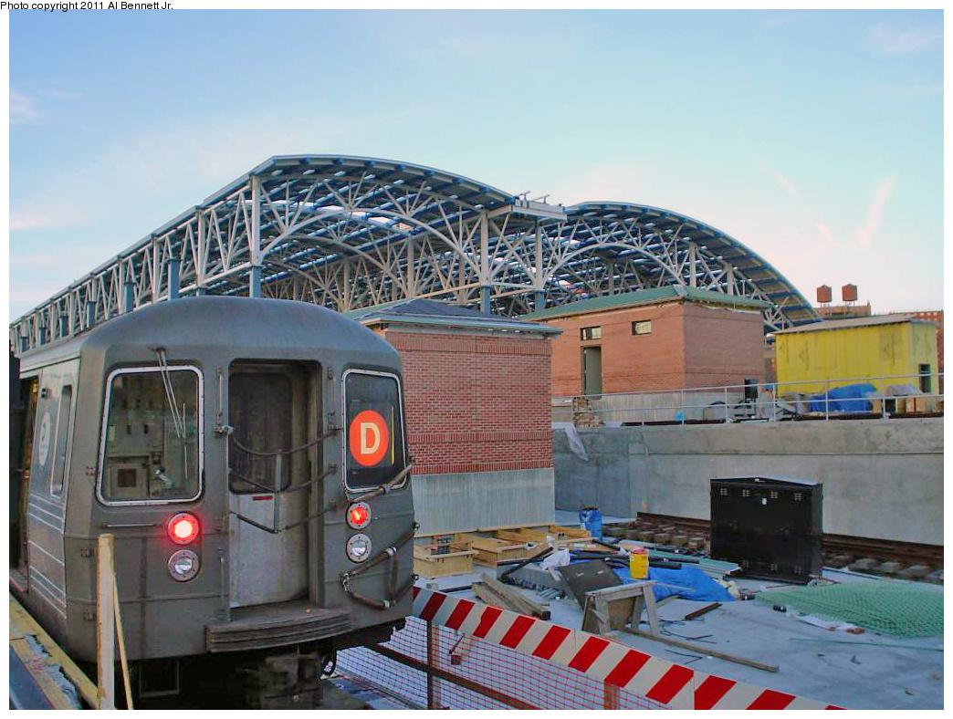 (387k, 1044x788)<br><b>Country:</b> United States<br><b>City:</b> New York<br><b>System:</b> New York City Transit<br><b>Location:</b> Coney Island/Stillwell Avenue<br><b>Route:</b> D<br><b>Car:</b> R-68/R-68A Series (Number Unknown)  <br><b>Photo by:</b> Al Bennett, Jr.<br><b>Notes:</b> Construction of new train shed.<br><b>Viewed (this week/total):</b> 0 / 1177