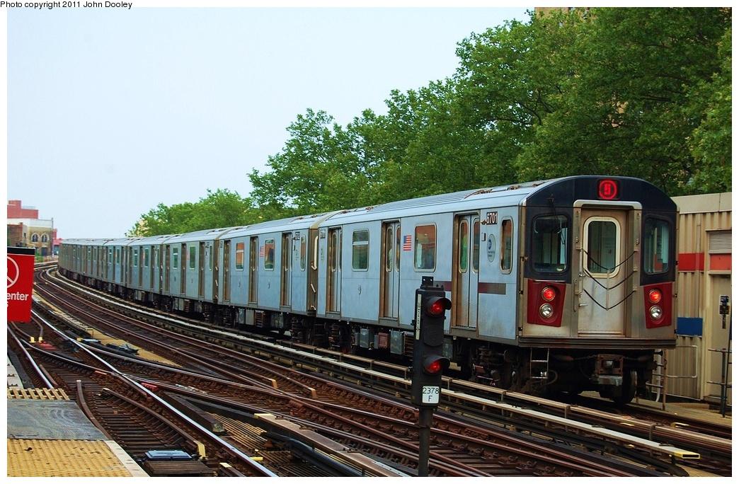 (372k, 1044x684)<br><b>Country:</b> United States<br><b>City:</b> New York<br><b>System:</b> New York City Transit<br><b>Line:</b> IRT White Plains Road Line<br><b>Location:</b> Jackson Avenue <br><b>Route:</b> 2<br><b>Car:</b> R-142 (Primary Order, Bombardier, 1999-2002)  6701 <br><b>Photo by:</b> John Dooley<br><b>Date:</b> 6/28/2011<br><b>Viewed (this week/total):</b> 2 / 880