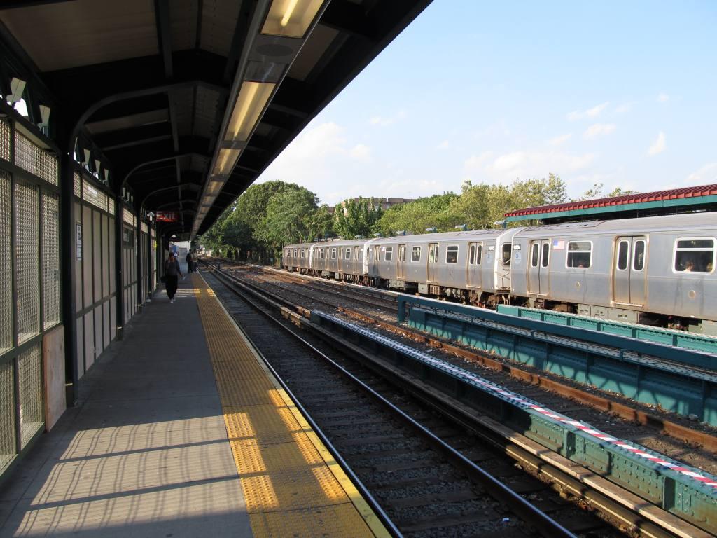 (129k, 1024x768)<br><b>Country:</b> United States<br><b>City:</b> New York<br><b>System:</b> New York City Transit<br><b>Line:</b> BMT Brighton Line<br><b>Location:</b> Avenue J <br><b>Photo by:</b> Robbie Rosenfeld<br><b>Date:</b> 9/13/2011<br><b>Notes:</b> Station renovations-completed platform<br><b>Viewed (this week/total):</b> 0 / 1099