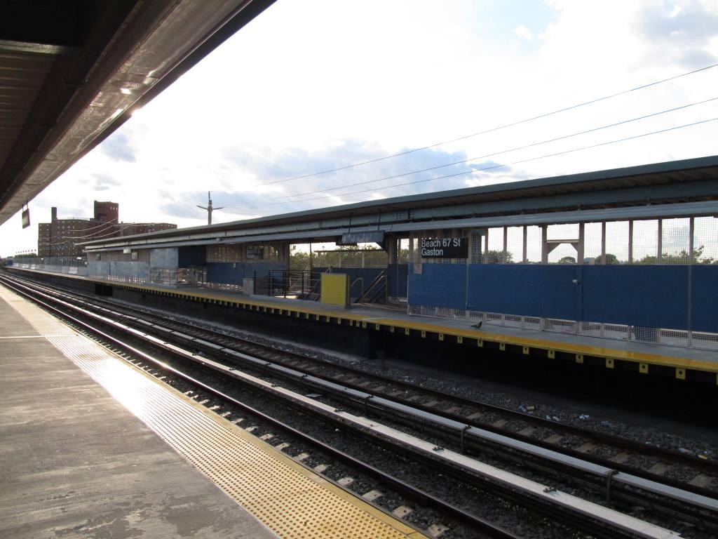 (110k, 1024x768)<br><b>Country:</b> United States<br><b>City:</b> New York<br><b>System:</b> New York City Transit<br><b>Line:</b> IND Rockaway<br><b>Location:</b> Beach 67th Street/Gaston Avenue <br><b>Photo by:</b> Robbie Rosenfeld<br><b>Date:</b> 8/22/2011<br><b>Notes:</b> Station renovation.<br><b>Viewed (this week/total):</b> 8 / 806