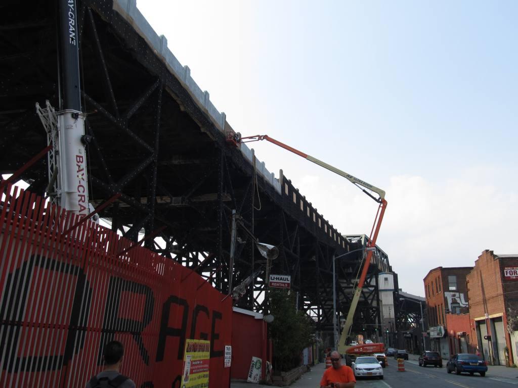 (90k, 1024x768)<br><b>Country:</b> United States<br><b>City:</b> New York<br><b>System:</b> New York City Transit<br><b>Line:</b> IND Crosstown Line<br><b>Location:</b> Smith/9th Street <br><b>Photo by:</b> Robbie Rosenfeld<br><b>Date:</b> 9/14/2011<br><b>Notes:</b> Station renovation<br><b>Viewed (this week/total):</b> 0 / 1063