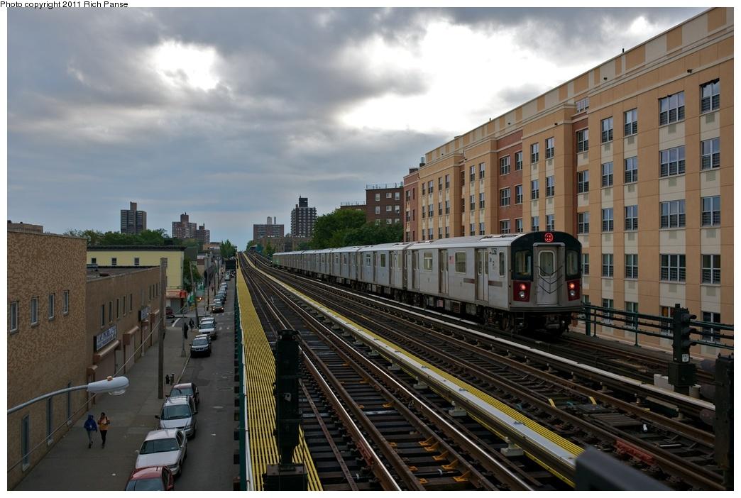 (258k, 1044x702)<br><b>Country:</b> United States<br><b>City:</b> New York<br><b>System:</b> New York City Transit<br><b>Line:</b> IRT White Plains Road Line<br><b>Location:</b> Burke Avenue <br><b>Route:</b> 2<br><b>Car:</b> R-142 (Primary Order, Bombardier, 1999-2002)  6471 <br><b>Photo by:</b> Richard Panse<br><b>Date:</b> 10/1/2011<br><b>Viewed (this week/total):</b> 2 / 1079