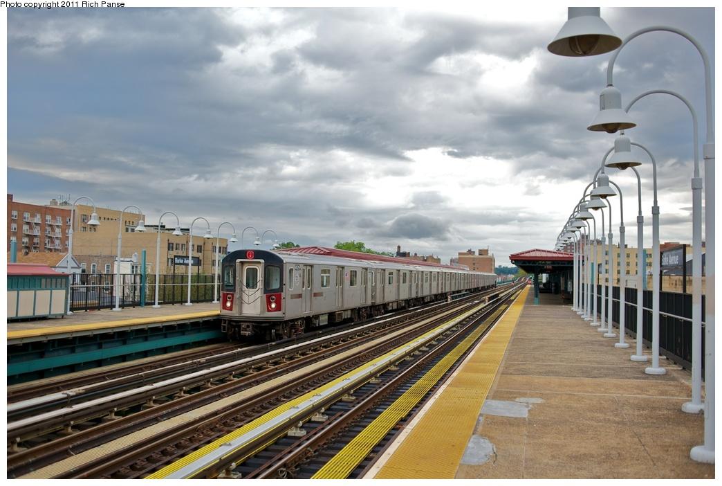 (259k, 1044x702)<br><b>Country:</b> United States<br><b>City:</b> New York<br><b>System:</b> New York City Transit<br><b>Line:</b> IRT White Plains Road Line<br><b>Location:</b> Burke Avenue <br><b>Route:</b> 2<br><b>Car:</b> R-142 (Primary Order, Bombardier, 1999-2002)  6525 <br><b>Photo by:</b> Richard Panse<br><b>Date:</b> 10/1/2011<br><b>Viewed (this week/total):</b> 2 / 1151