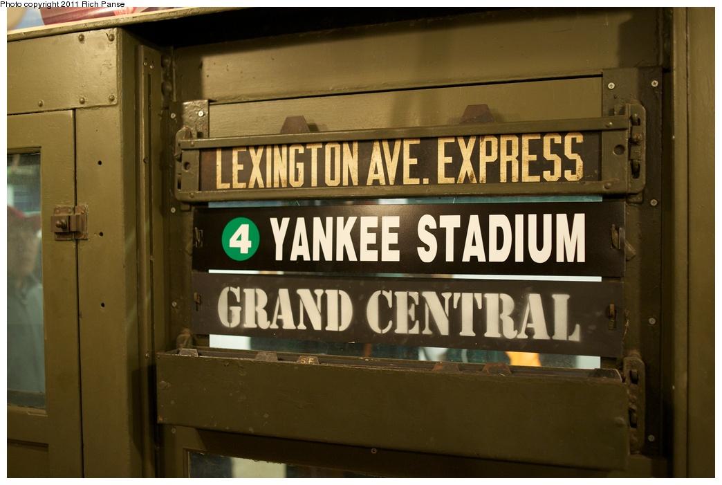 (218k, 1044x701)<br><b>Country:</b> United States<br><b>City:</b> New York<br><b>System:</b> New York City Transit<br><b>Route:</b> Fan Trip<br><b>Car:</b> Low-V (Museum Train) 5443 <br><b>Photo by:</b> Richard Panse<br><b>Date:</b> 10/1/2011<br><b>Notes:</b> Yankees Special<br><b>Viewed (this week/total):</b> 0 / 669