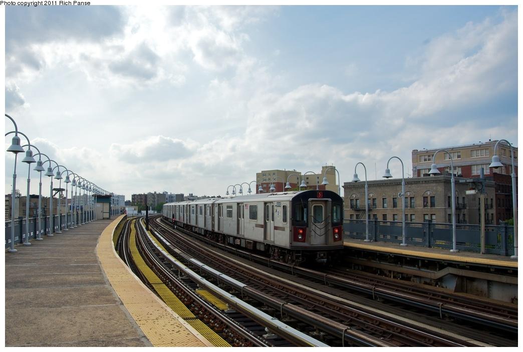 (237k, 1044x703)<br><b>Country:</b> United States<br><b>City:</b> New York<br><b>System:</b> New York City Transit<br><b>Line:</b> IRT White Plains Road Line<br><b>Location:</b> West Farms Sq./East Tremont Ave./177th St. <br><b>Route:</b> 2<br><b>Car:</b> R-142 (Primary Order, Bombardier, 1999-2002)  6910 <br><b>Photo by:</b> Richard Panse<br><b>Date:</b> 10/1/2011<br><b>Viewed (this week/total):</b> 0 / 1221