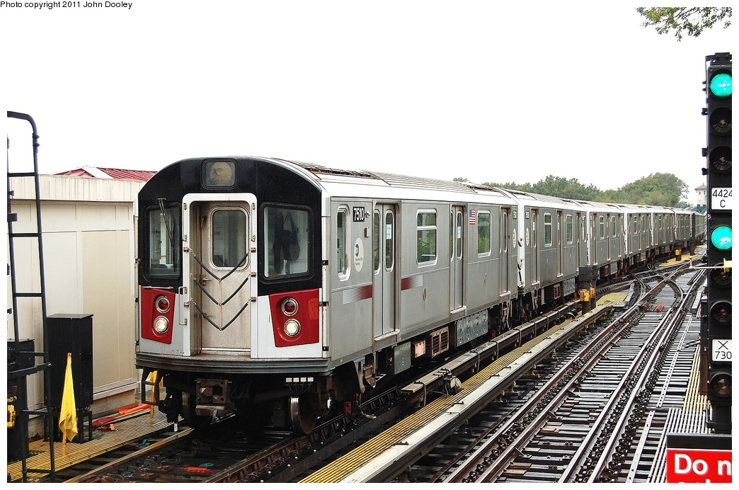 (335k, 1044x692)<br><b>Country:</b> United States<br><b>City:</b> New York<br><b>System:</b> New York City Transit<br><b>Line:</b> IRT Flushing Line<br><b>Location:</b> Willets Point/Mets (fmr. Shea Stadium) <br><b>Route:</b> Testing<br><b>Car:</b> R-142A (Primary Order, Kawasaki, 1999-2002)  7510 <br><b>Photo by:</b> John Dooley<br><b>Date:</b> 9/20/2011<br><b>Viewed (this week/total):</b> 2 / 1214