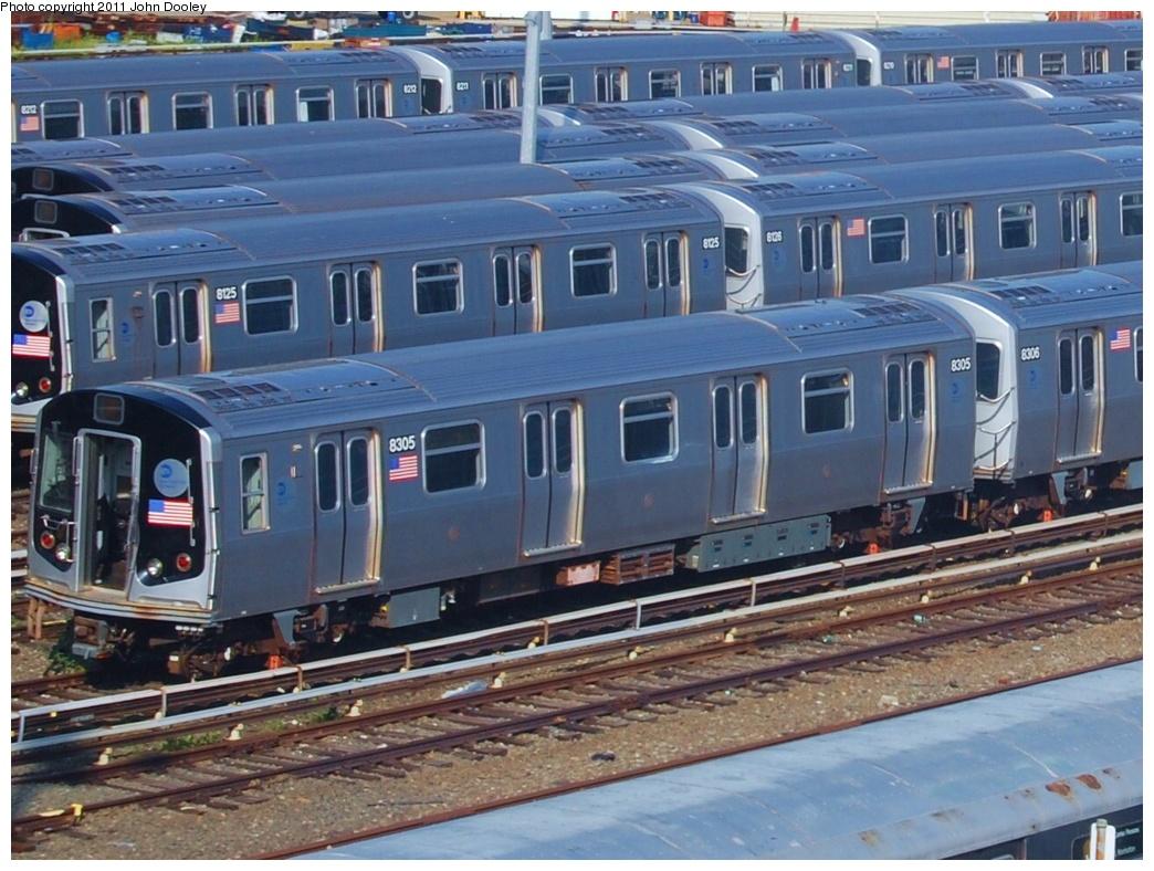(352k, 1044x788)<br><b>Country:</b> United States<br><b>City:</b> New York<br><b>System:</b> New York City Transit<br><b>Location:</b> East New York Yard/Shops<br><b>Car:</b> R-143 (Kawasaki, 2001-2002) 8125/8305 <br><b>Photo by:</b> John Dooley<br><b>Date:</b> 6/29/2011<br><b>Viewed (this week/total):</b> 1 / 824