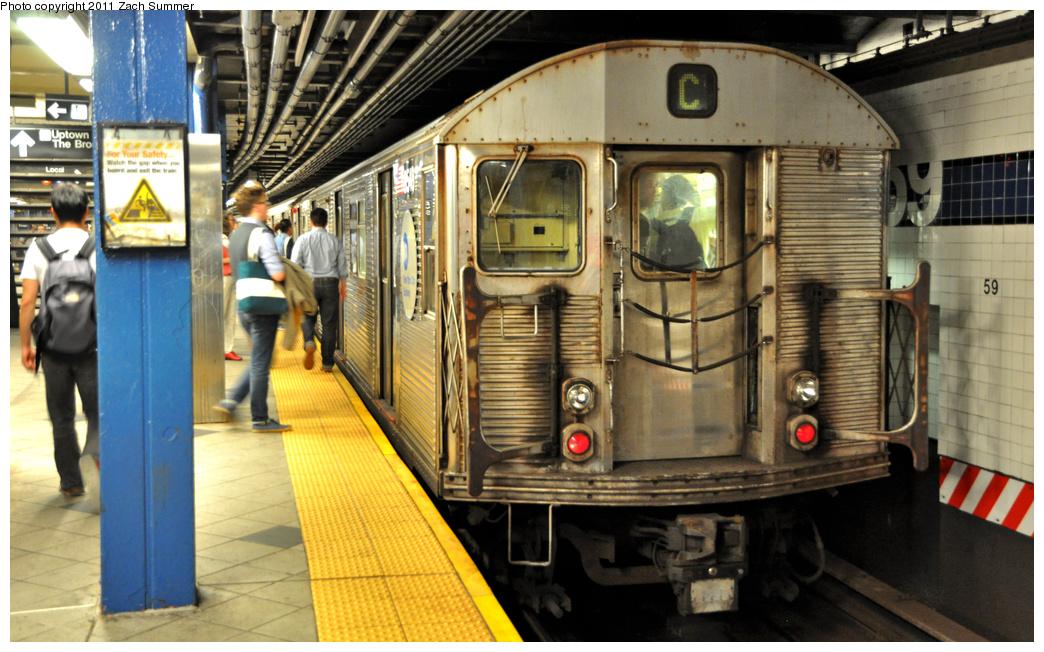 (380k, 1044x652)<br><b>Country:</b> United States<br><b>City:</b> New York<br><b>System:</b> New York City Transit<br><b>Line:</b> IND 8th Avenue Line<br><b>Location:</b> 59th Street/Columbus Circle <br><b>Route:</b> C<br><b>Car:</b> R-32 (Budd, 1964)  3548 <br><b>Photo by:</b> Zach Summer<br><b>Date:</b> 10/9/2011<br><b>Viewed (this week/total):</b> 0 / 1237