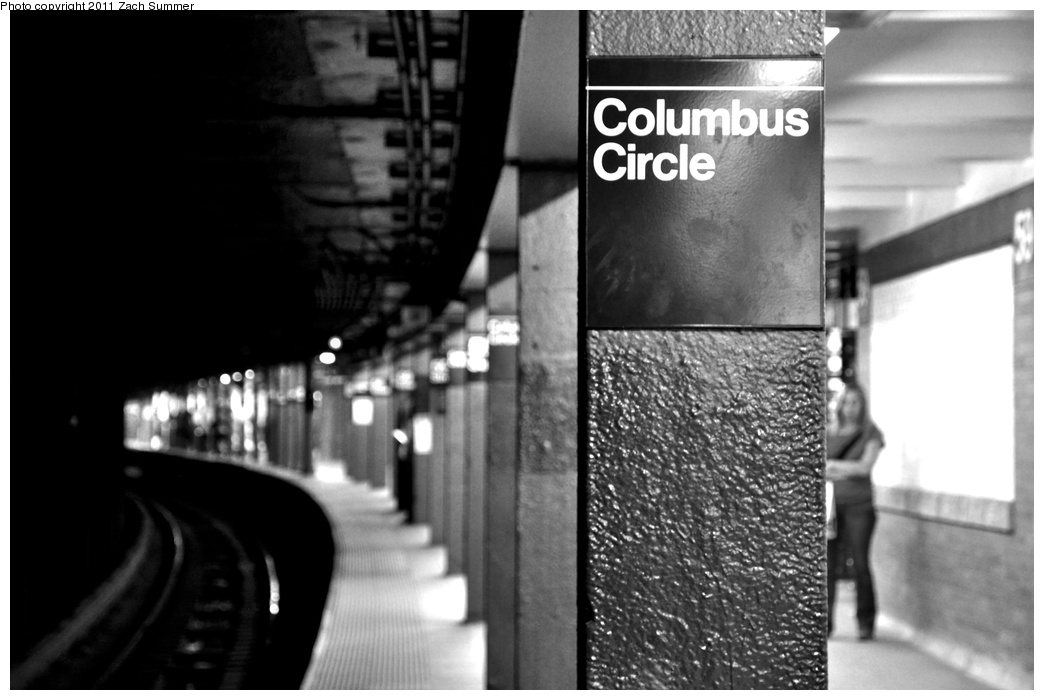(201k, 1044x700)<br><b>Country:</b> United States<br><b>City:</b> New York<br><b>System:</b> New York City Transit<br><b>Line:</b> IRT West Side Line<br><b>Location:</b> 59th Street/Columbus Circle <br><b>Photo by:</b> Zach Summer<br><b>Date:</b> 10/9/2011<br><b>Notes:</b> IRT Uptown & The Bronx platform<br><b>Viewed (this week/total):</b> 1 / 802