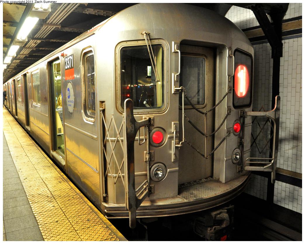 (483k, 1044x836)<br><b>Country:</b> United States<br><b>City:</b> New York<br><b>System:</b> New York City Transit<br><b>Line:</b> IRT West Side Line<br><b>Location:</b> 72nd Street<br><b>Route:</b> 1<br><b>Car:</b> R-62A (Bombardier, 1984-1987) 2371 <br><b>Photo by:</b> Zach Summer<br><b>Date:</b> 10/9/2011<br><b>Viewed (this week/total):</b> 2 / 1627