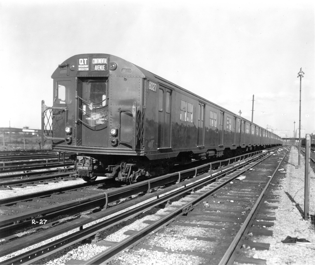 (267k, 1024x864)<br><b>Country:</b> United States<br><b>City:</b> New York<br><b>System:</b> New York City Transit<br><b>Location:</b> Coney Island Yard<br><b>Car:</b> R-27 (St. Louis, 1960)  8027 <br><b>Photo by:</b> Ed Watson/Arthur Lonto Collection<br><b>Collection of:</b> Frank Pfuhler<br><b>Viewed (this week/total):</b> 0 / 1168