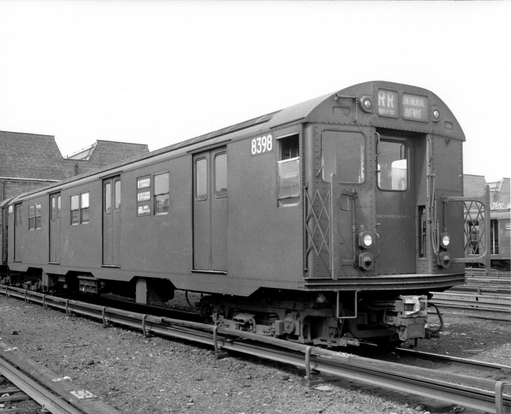 (244k, 1024x830)<br><b>Country:</b> United States<br><b>City:</b> New York<br><b>System:</b> New York City Transit<br><b>Location:</b> Coney Island Yard<br><b>Car:</b> R-30 (St. Louis, 1961) 8398 <br><b>Photo by:</b> Ed Watson/Arthur Lonto Collection<br><b>Collection of:</b> Frank Pfuhler<br><b>Viewed (this week/total):</b> 2 / 1185