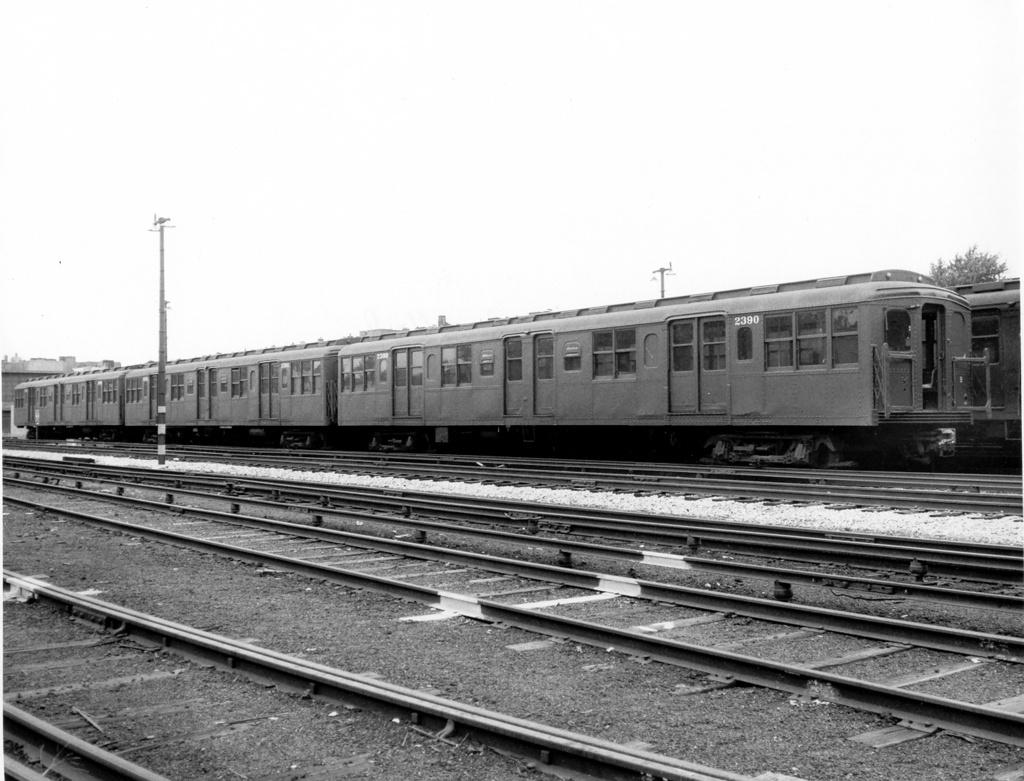 (245k, 1024x781)<br><b>Country:</b> United States<br><b>City:</b> New York<br><b>System:</b> New York City Transit<br><b>Location:</b> Fresh Pond Yard<br><b>Car:</b> BMT A/B-Type Standard 2390-2392 <br><b>Photo by:</b> Ed Watson/Arthur Lonto Collection<br><b>Collection of:</b> Frank Pfuhler<br><b>Date:</b> 9/16/1965<br><b>Viewed (this week/total):</b> 1 / 868