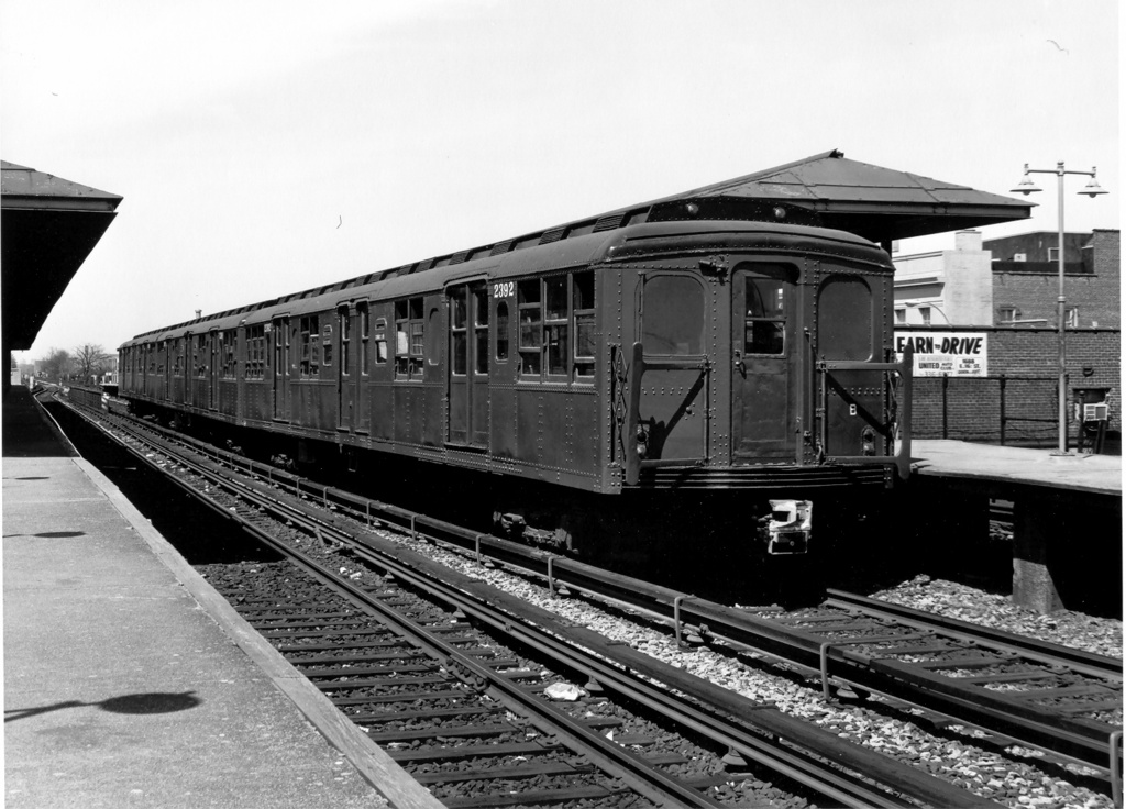 (255k, 1024x736)<br><b>Country:</b> United States<br><b>City:</b> New York<br><b>System:</b> New York City Transit<br><b>Line:</b> BMT Brighton Line<br><b>Location:</b> Kings Highway <br><b>Route:</b> Fan Trip<br><b>Car:</b> BMT A/B-Type Standard 2390-2392 <br><b>Photo by:</b> Ed Watson/Arthur Lonto Collection<br><b>Collection of:</b> Frank Pfuhler<br><b>Date:</b> 4/16/1977<br><b>Viewed (this week/total):</b> 1 / 881