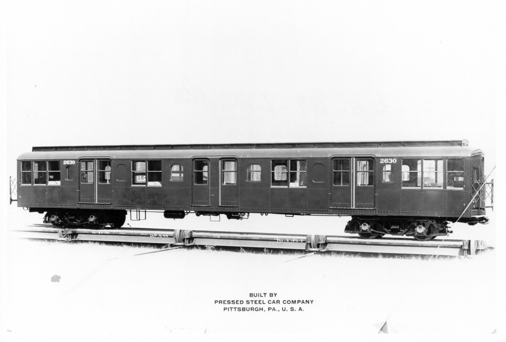 (129k, 1024x693)<br><b>Country:</b> United States<br><b>City:</b> New York<br><b>System:</b> New York City Transit<br><b>Location:</b> Pressed Steel Plant, Pittsburgh PA<br><b>Car:</b> BMT A/B-Type Standard 2630 <br><b>Photo by:</b> Ed Watson/Arthur Lonto Collection<br><b>Collection of:</b> Frank Pfuhler<br><b>Date:</b> 10/3/1920<br><b>Viewed (this week/total):</b> 2 / 1234