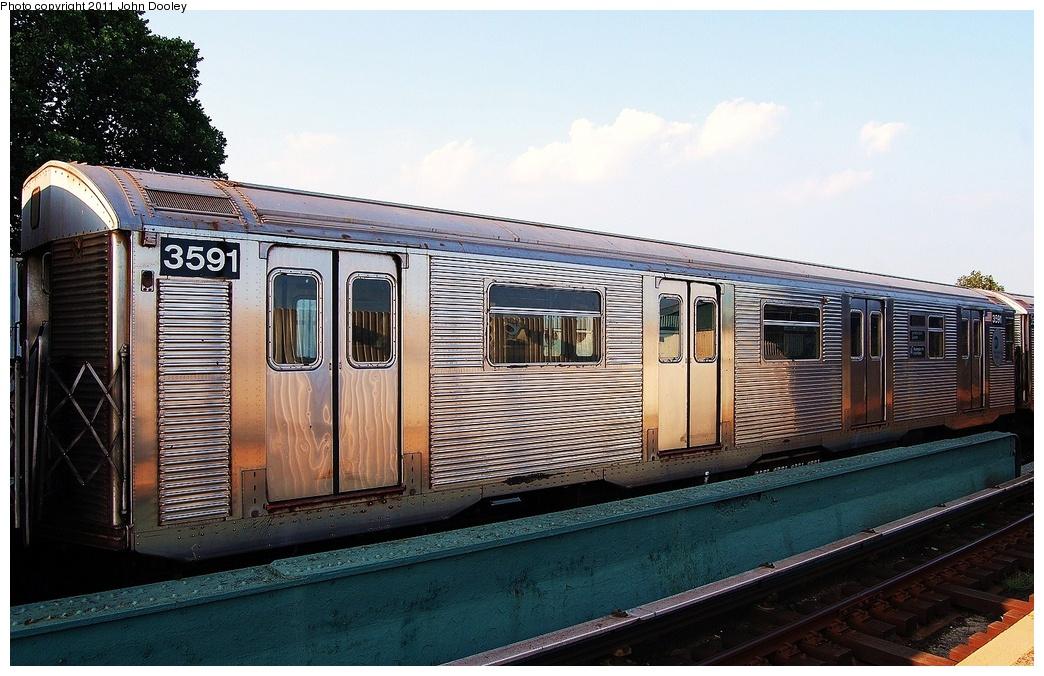 (337k, 1044x676)<br><b>Country:</b> United States<br><b>City:</b> New York<br><b>System:</b> New York City Transit<br><b>Line:</b> IND Fulton Street Line<br><b>Location:</b> 104th Street/Oxford Ave. <br><b>Route:</b> Layup<br><b>Car:</b> R-32 (Budd, 1964)  3591 <br><b>Photo by:</b> John Dooley<br><b>Date:</b> 8/20/2011<br><b>Viewed (this week/total):</b> 1 / 712