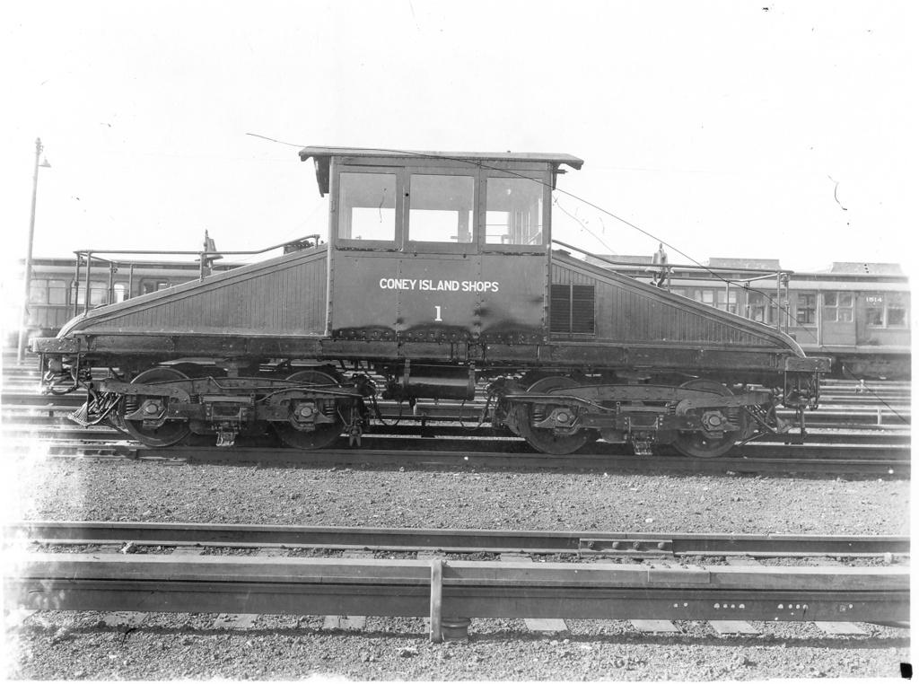 (258k, 1024x762)<br><b>Country:</b> United States<br><b>City:</b> New York<br><b>System:</b> New York City Transit<br><b>Location:</b> Coney Island Yard<br><b>Car:</b> SBK Steeplecab 1 <br><b>Photo by:</b> Ed Watson/Arthur Lonto Collection<br><b>Collection of:</b> Frank Pfuhler<br><b>Date:</b> 6/12/1930<br><b>Viewed (this week/total):</b> 0 / 710