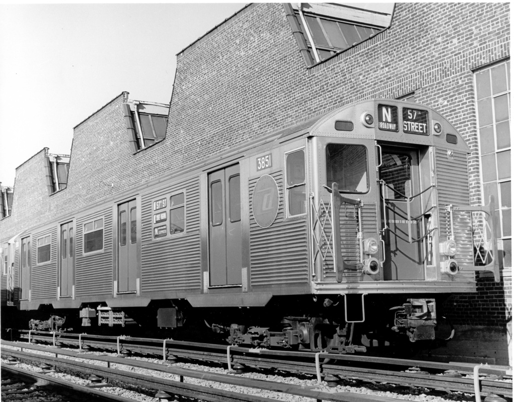 (330k, 1024x800)<br><b>Country:</b> United States<br><b>City:</b> New York<br><b>System:</b> New York City Transit<br><b>Location:</b> Coney Island Yard<br><b>Car:</b> R-32 (Budd, 1964)  3851 <br><b>Photo by:</b> Ed Watson/Arthur Lonto Collection<br><b>Collection of:</b> Frank Pfuhler<br><b>Date:</b> 9/1965<br><b>Viewed (this week/total):</b> 0 / 925