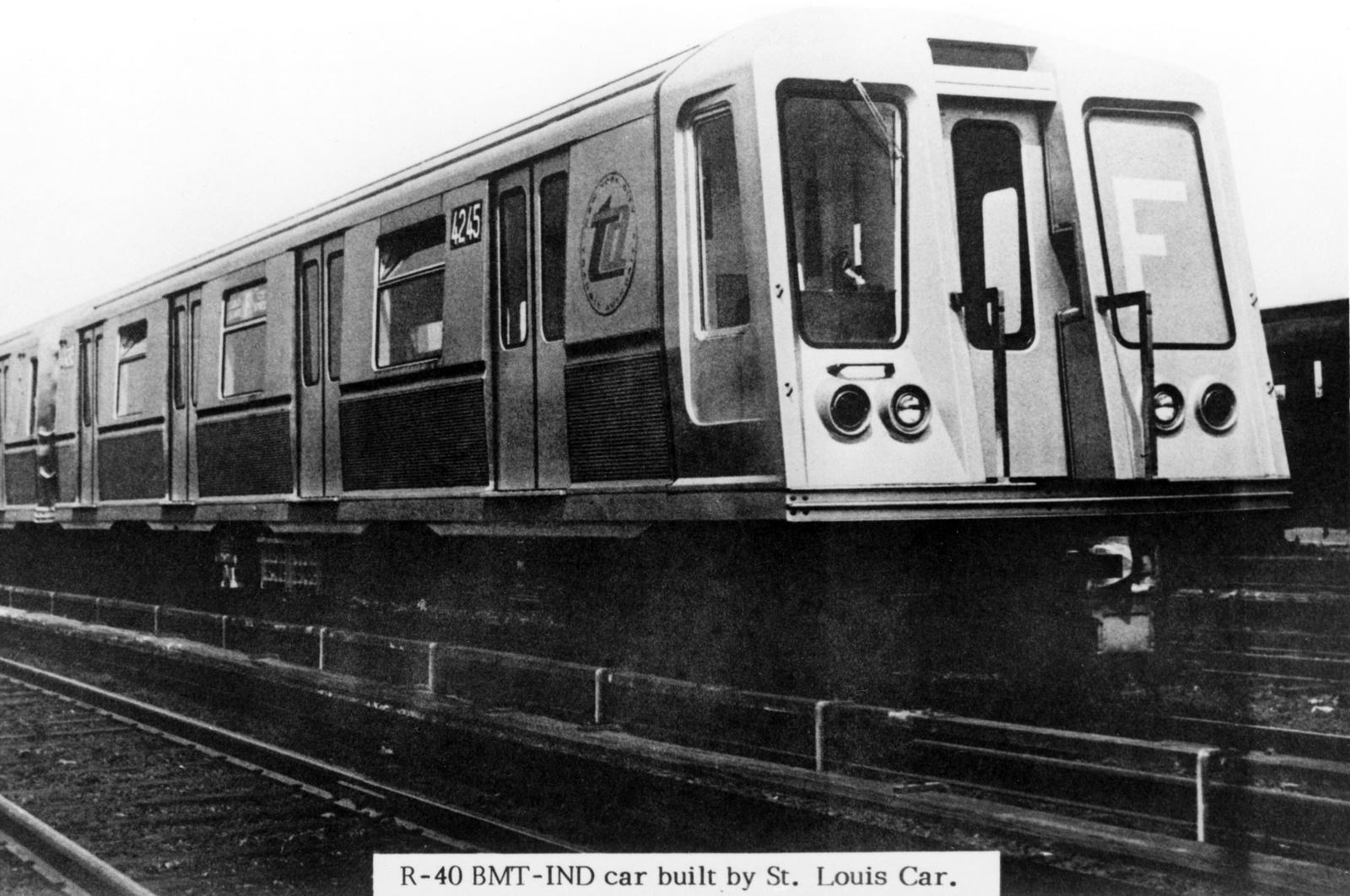 (220k, 1024x813)<br><b>Country:</b> United States<br><b>City:</b> New York<br><b>System:</b> New York City Transit<br><b>Location:</b> Coney Island Yard<br><b>Car:</b> R-40 (St. Louis, 1968)  4245 <br><b>Photo by:</b> Ed Watson/Arthur Lonto Collection<br><b>Collection of:</b> Frank Pfuhler<br><b>Date:</b> 1/1969<br><b>Viewed (this week/total):</b> 2 / 934