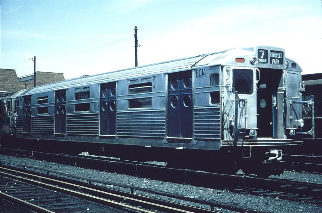 (187k, 1024x677)<br><b>Country:</b> United States<br><b>City:</b> New York<br><b>System:</b> New York City Transit<br><b>Location:</b> Coney Island Yard<br><b>Car:</b> R-11 (Budd, 1949) 8014 <br><b>Collection of:</b> Joe Testagrose<br><b>Date:</b> 5/1967<br><b>Viewed (this week/total):</b> 2 / 921