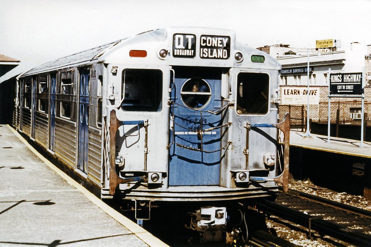 (174k, 1024x685)<br><b>Country:</b> United States<br><b>City:</b> New York<br><b>System:</b> New York City Transit<br><b>Line:</b> BMT Brighton Line<br><b>Location:</b> Kings Highway <br><b>Route:</b> Fan Trip<br><b>Car:</b> R-11 (Budd, 1949) 8016 <br><b>Photo by:</b> Joe Testagrose<br><b>Date:</b> 10/21/1972<br><b>Viewed (this week/total):</b> 3 / 1278