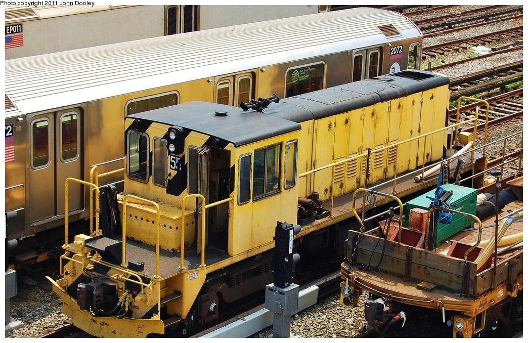 (409k, 1044x678)<br><b>Country:</b> United States<br><b>City:</b> New York<br><b>System:</b> New York City Transit<br><b>Location:</b> Corona Yard<br><b>Car:</b> R-41 Locomotive  55 <br><b>Photo by:</b> John Dooley<br><b>Date:</b> 6/27/2011<br><b>Viewed (this week/total):</b> 2 / 598