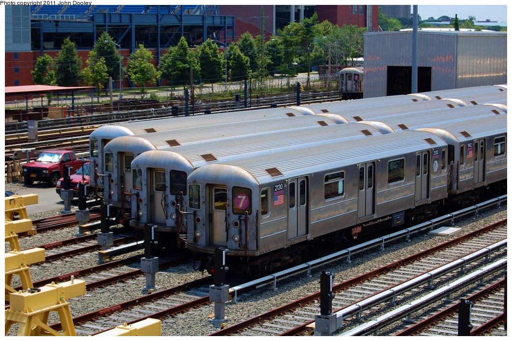 (423k, 1044x696)<br><b>Country:</b> United States<br><b>City:</b> New York<br><b>System:</b> New York City Transit<br><b>Location:</b> Corona Yard<br><b>Car:</b> R-62A (Bombardier, 1984-1987)  2130 <br><b>Photo by:</b> John Dooley<br><b>Date:</b> 6/27/2011<br><b>Viewed (this week/total):</b> 2 / 679