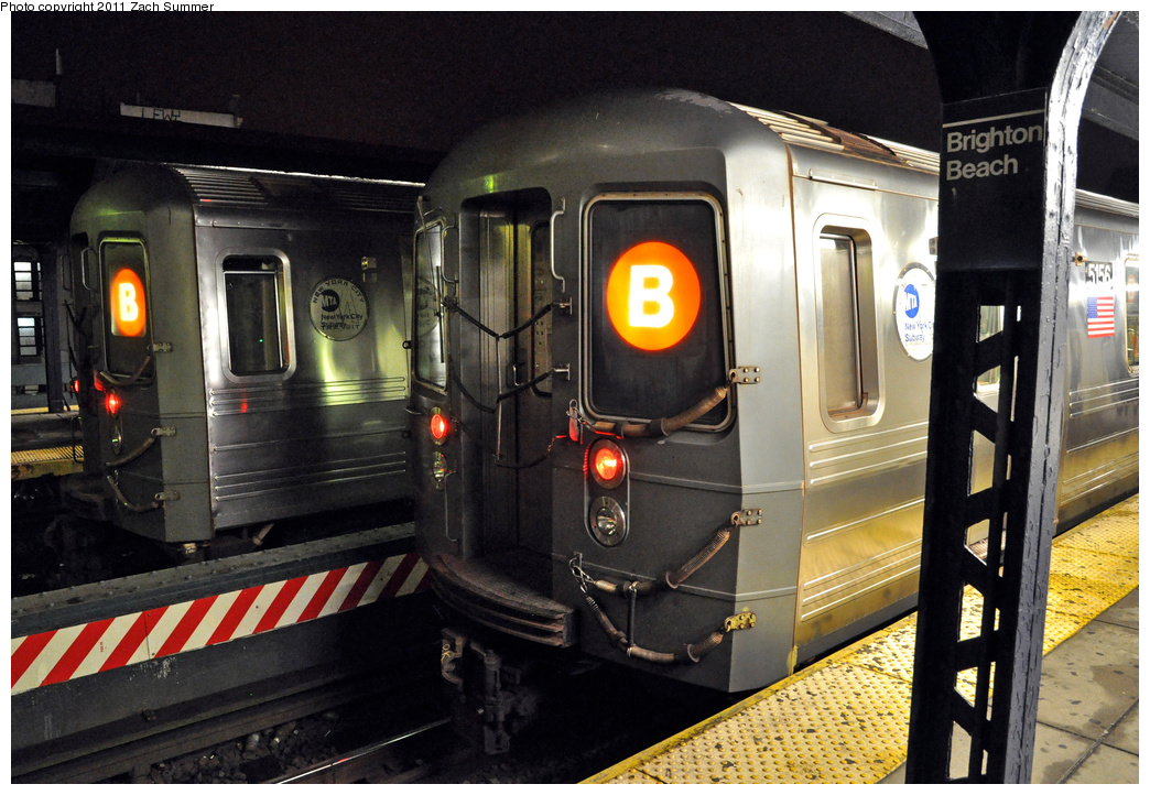 (391k, 1044x722)<br><b>Country:</b> United States<br><b>City:</b> New York<br><b>System:</b> New York City Transit<br><b>Line:</b> BMT Brighton Line<br><b>Location:</b> Brighton Beach <br><b>Route:</b> B<br><b>Car:</b> R-68A (Kawasaki, 1988-1989)  5156 <br><b>Photo by:</b> Zach Summer<br><b>Date:</b> 10/13/2011<br><b>Viewed (this week/total):</b> 0 / 808