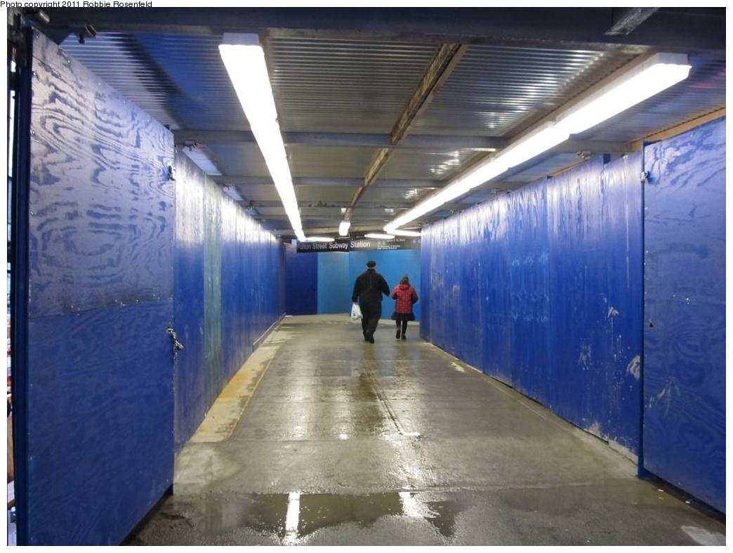 (255k, 1044x788)<br><b>Country:</b> United States<br><b>City:</b> New York<br><b>System:</b> New York City Transit<br><b>Location:</b> Fulton Street Transit Center<br><b>Photo by:</b> Robbie Rosenfeld<br><b>Date:</b> 10/30/2011<br><b>Notes:</b> Transit Center construction<br><b>Viewed (this week/total):</b> 0 / 380