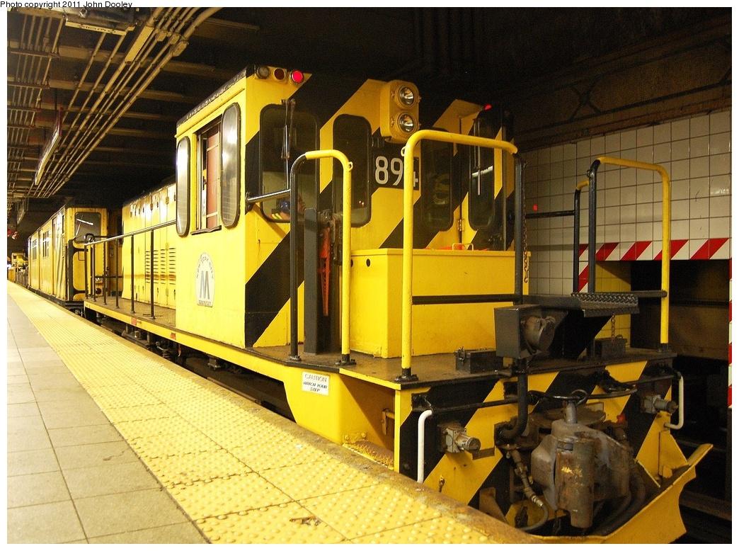 (418k, 1044x778)<br><b>Country:</b> United States<br><b>City:</b> New York<br><b>System:</b> New York City Transit<br><b>Line:</b> BMT 4th Avenue<br><b>Location:</b> Pacific Street <br><b>Route:</b> Work Service<br><b>Car:</b> R-77 Locomotive  894 <br><b>Photo by:</b> John Dooley<br><b>Date:</b> 9/22/2011<br><b>Viewed (this week/total):</b> 0 / 860