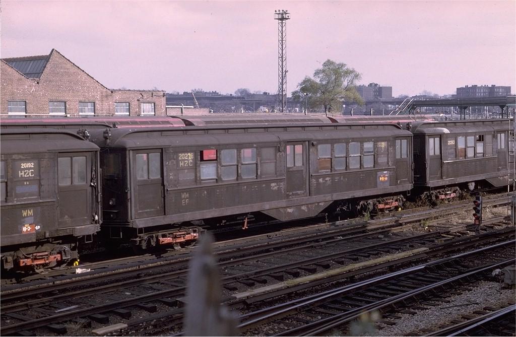 (204k, 1024x669)<br><b>Country:</b> United States<br><b>City:</b> New York<br><b>System:</b> New York City Transit<br><b>Location:</b> Westchester Yard<br><b>Car:</b> Low-V 20228 <br><b>Photo by:</b> Joe Testagrose<br><b>Date:</b> 11/15/1969<br><b>Viewed (this week/total):</b> 0 / 2737