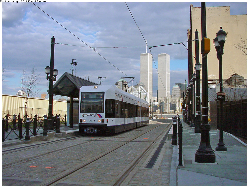 (300k, 1044x788)<br><b>Country:</b> United States<br><b>City:</b> Jersey City, NJ<br><b>System:</b> Hudson Bergen Light Rail<br><b>Location:</b> Essex Street <br><b>Car:</b> NJT-HBLR LRV (Kinki-Sharyo, 1998-99)  2027 <br><b>Photo by:</b> David Pirmann<br><b>Date:</b> 3/26/2000<br><b>Viewed (this week/total):</b> 2 / 27377
