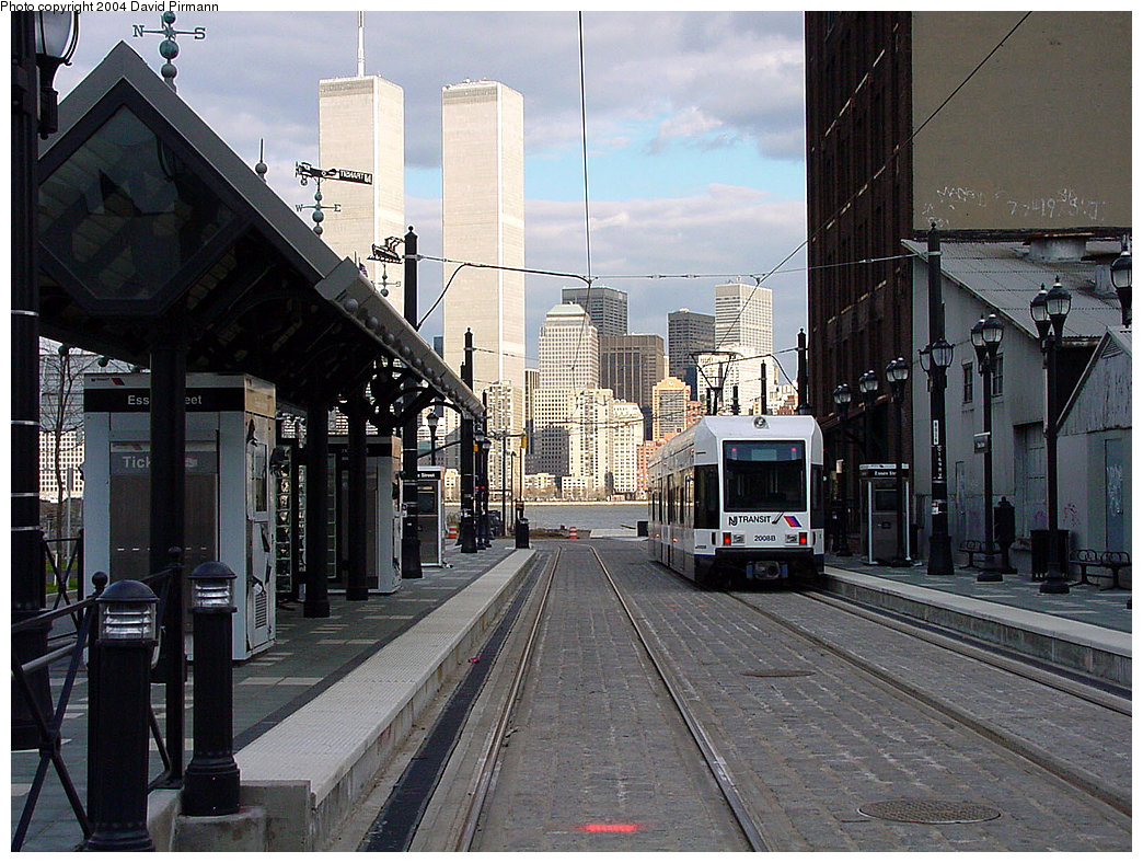 (282k, 1044x788)<br><b>Country:</b> United States<br><b>City:</b> Jersey City, NJ<br><b>System:</b> Hudson Bergen Light Rail<br><b>Location:</b> Essex Street <br><b>Car:</b> NJT-HBLR LRV (Kinki-Sharyo, 1998-99)  2008 <br><b>Photo by:</b> David Pirmann<br><b>Date:</b> 3/26/2000<br><b>Viewed (this week/total):</b> 0 / 7290
