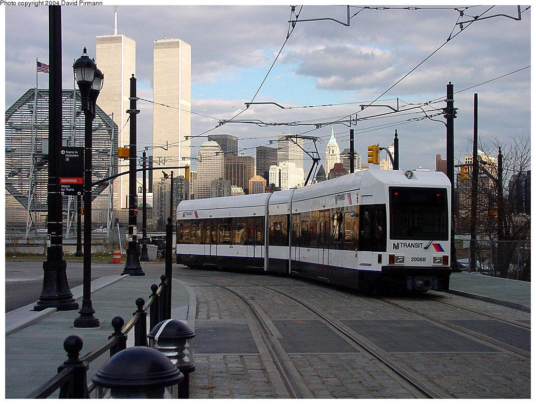 (290k, 1044x788)<br><b>Country:</b> United States<br><b>City:</b> Jersey City, NJ<br><b>System:</b> Hudson Bergen Light Rail<br><b>Location:</b> Essex Street <br><b>Car:</b> NJT-HBLR LRV (Kinki-Sharyo, 1998-99)  2008 <br><b>Photo by:</b> David Pirmann<br><b>Date:</b> 3/26/2000<br><b>Viewed (this week/total):</b> 8 / 9483
