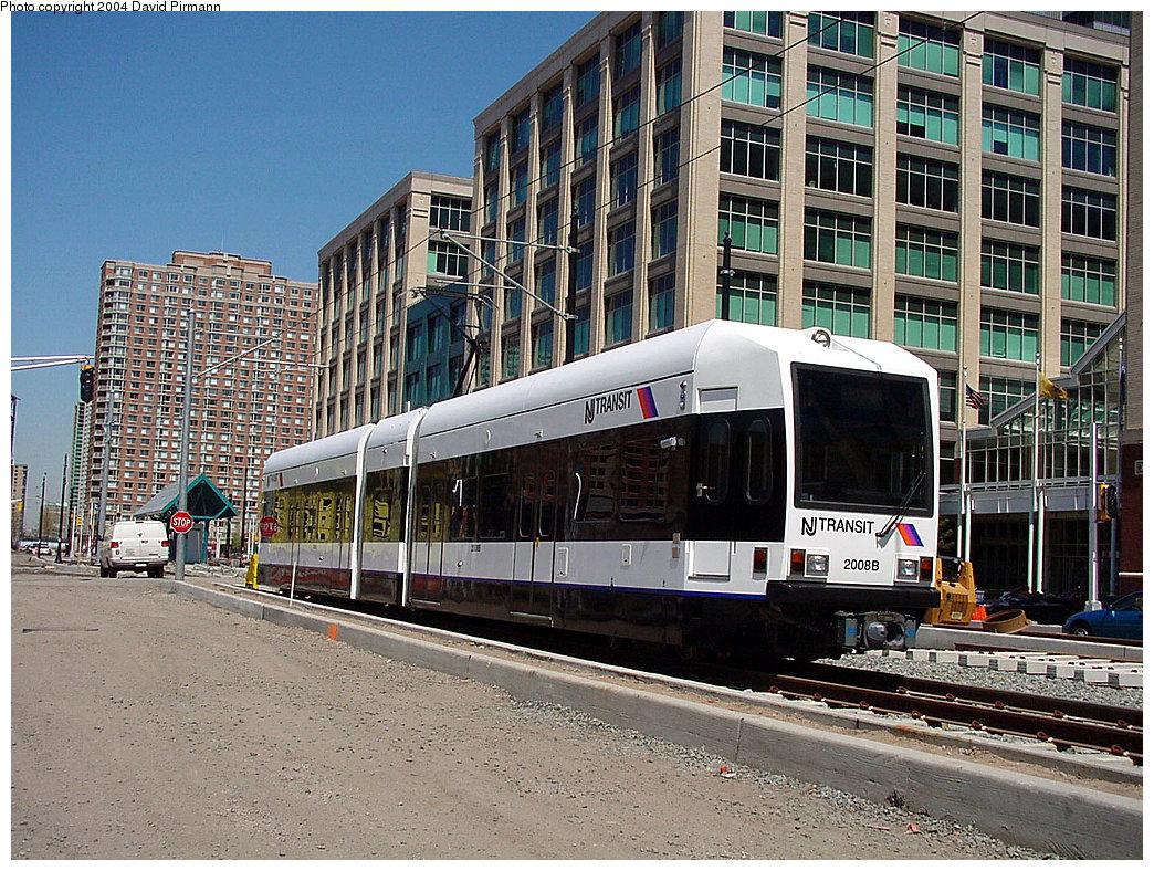 (347k, 1044x788)<br><b>Country:</b> United States<br><b>City:</b> Jersey City, NJ<br><b>System:</b> Hudson Bergen Light Rail<br><b>Location:</b> Harborside <br><b>Car:</b> NJT-HBLR LRV (Kinki-Sharyo, 1998-99)  2006 <br><b>Photo by:</b> David Pirmann<br><b>Date:</b> 4/29/2000<br><b>Viewed (this week/total):</b> 1 / 2930