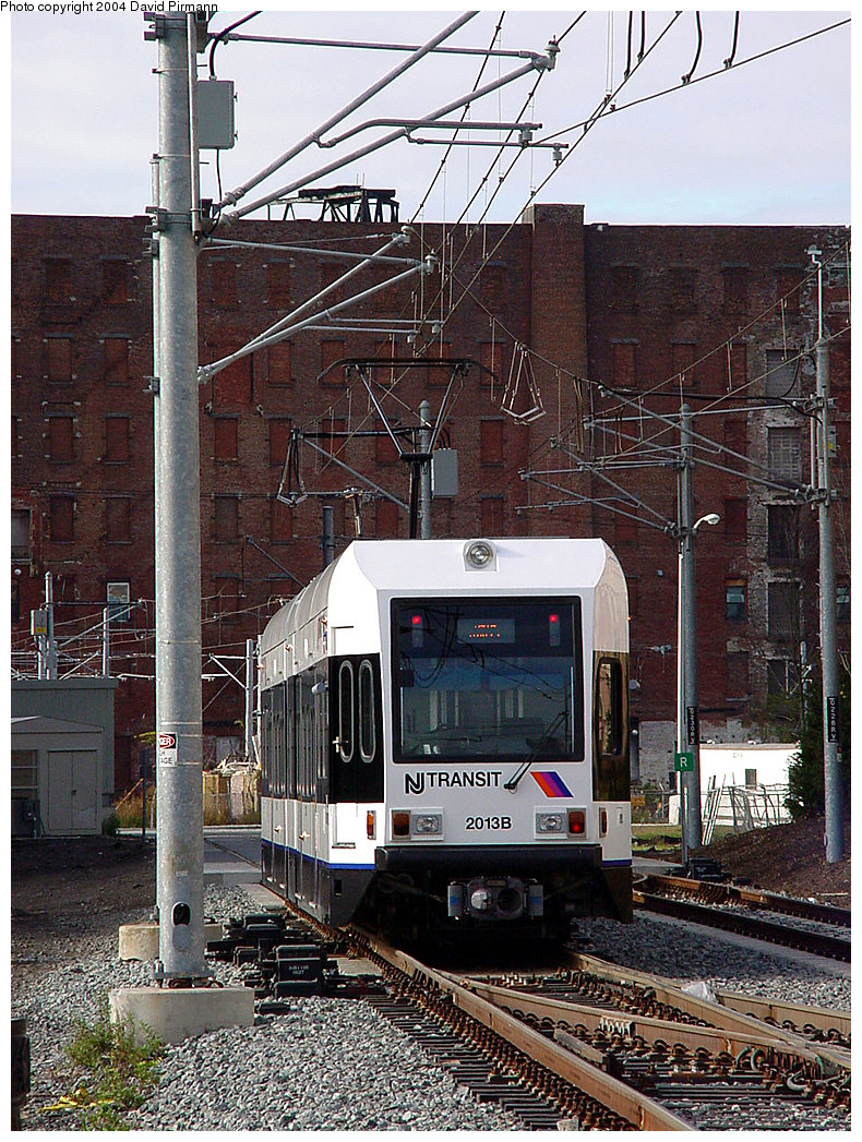 (340k, 790x1047)<br><b>Country:</b> United States<br><b>City:</b> Jersey City, NJ<br><b>System:</b> Hudson Bergen Light Rail<br><b>Location:</b> Harborside <br><b>Car:</b> NJT-HBLR LRV (Kinki-Sharyo, 1998-99)  2013 <br><b>Photo by:</b> David Pirmann<br><b>Date:</b> 11/12/2000<br><b>Viewed (this week/total):</b> 0 / 2024