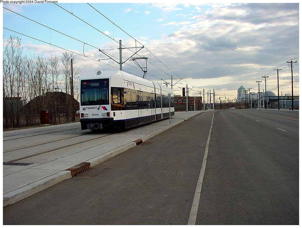 (262k, 1044x788)<br><b>Country:</b> United States<br><b>City:</b> Jersey City, NJ<br><b>System:</b> Hudson Bergen Light Rail<br><b>Location:</b> Jersey Avenue <br><b>Car:</b> NJT-HBLR LRV (Kinki-Sharyo, 1998-99)  2010 <br><b>Photo by:</b> David Pirmann<br><b>Date:</b> 3/26/2000<br><b>Viewed (this week/total):</b> 4 / 3490