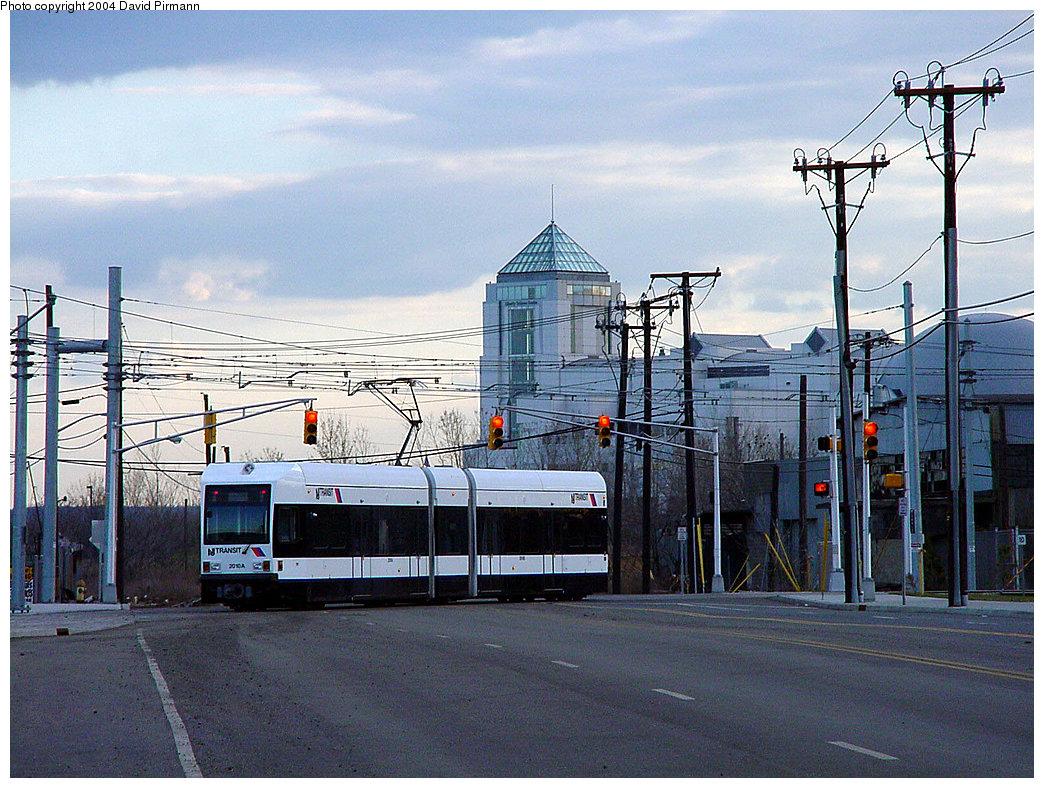 (294k, 1044x788)<br><b>Country:</b> United States<br><b>City:</b> Jersey City, NJ<br><b>System:</b> Hudson Bergen Light Rail<br><b>Location:</b> Jersey Avenue <br><b>Car:</b> NJT-HBLR LRV (Kinki-Sharyo, 1998-99)  2010 <br><b>Photo by:</b> David Pirmann<br><b>Date:</b> 3/26/2000<br><b>Viewed (this week/total):</b> 0 / 3304