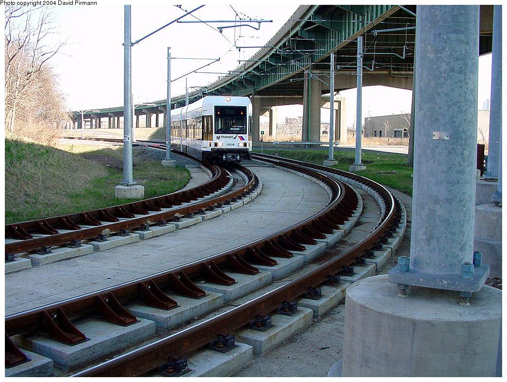 (316k, 1044x788)<br><b>Country:</b> United States<br><b>City:</b> Jersey City, NJ<br><b>System:</b> Hudson Bergen Light Rail<br><b>Location:</b> Liberty State Park <br><b>Car:</b> NJT-HBLR LRV (Kinki-Sharyo, 1998-99)  2023 <br><b>Photo by:</b> David Pirmann<br><b>Date:</b> 3/25/2000<br><b>Viewed (this week/total):</b> 0 / 2546