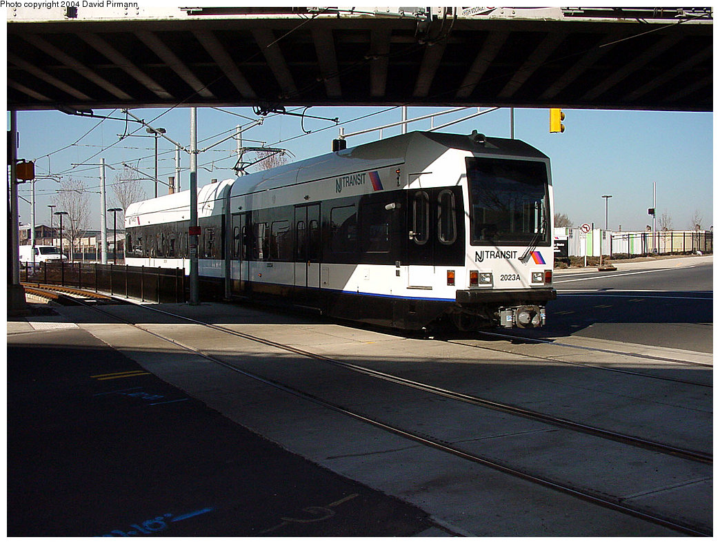 (251k, 1044x788)<br><b>Country:</b> United States<br><b>City:</b> Jersey City, NJ<br><b>System:</b> Hudson Bergen Light Rail<br><b>Location:</b> Liberty State Park <br><b>Car:</b> NJT-HBLR LRV (Kinki-Sharyo, 1998-99)  2023 <br><b>Photo by:</b> David Pirmann<br><b>Date:</b> 3/25/2000<br><b>Viewed (this week/total):</b> 1 / 2020